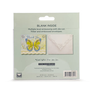 Blue & Green Butterfly Thank You Card Set