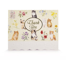 Load image into Gallery viewer, Cute Cats Thank You Card Set