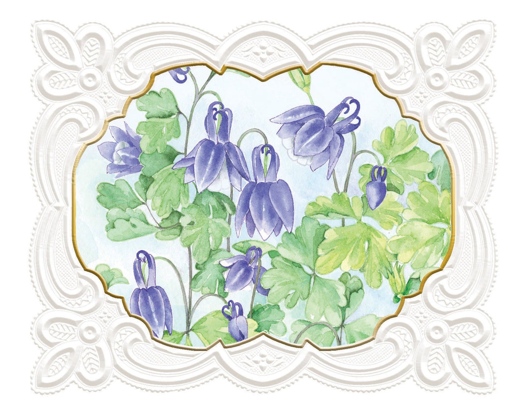 Lilac Drops Boxed Notecards