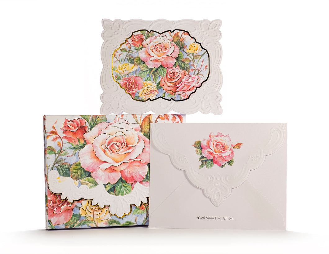 Roses In Bloom Boxed Notecards