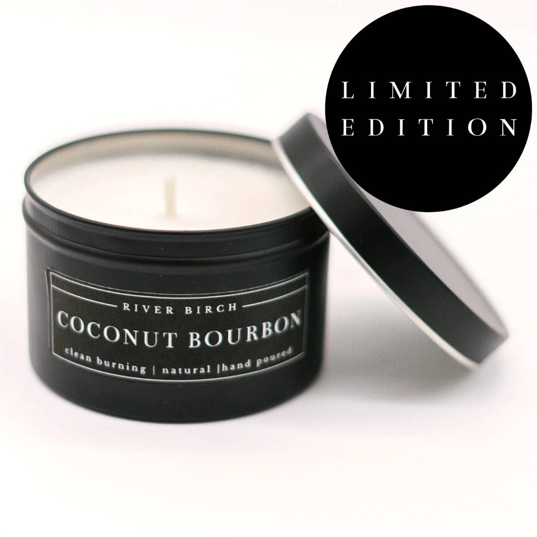 8oz Coconut Bourbon Soy Candle