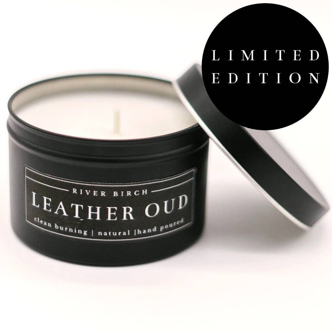Leather Oud - 8 Oz Soy Candle