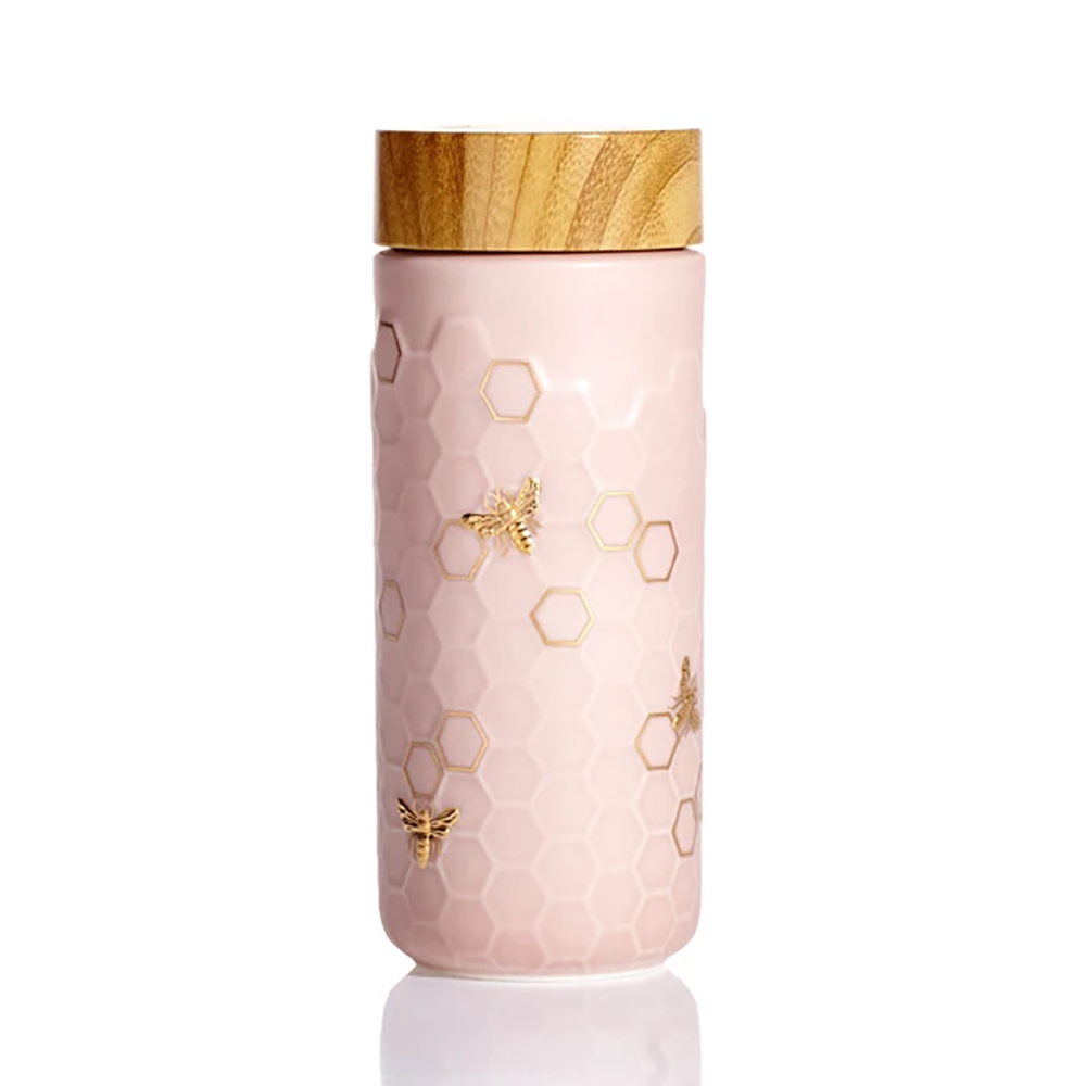 Acera Water Vessel: Pink With Honey Bees