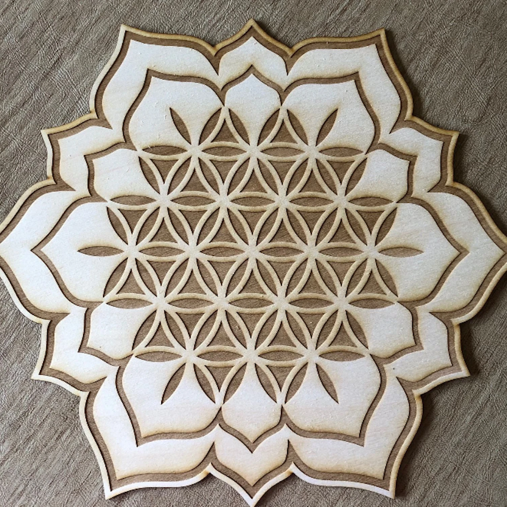 Crystal Grid: Flower of Life Lotus - 6""