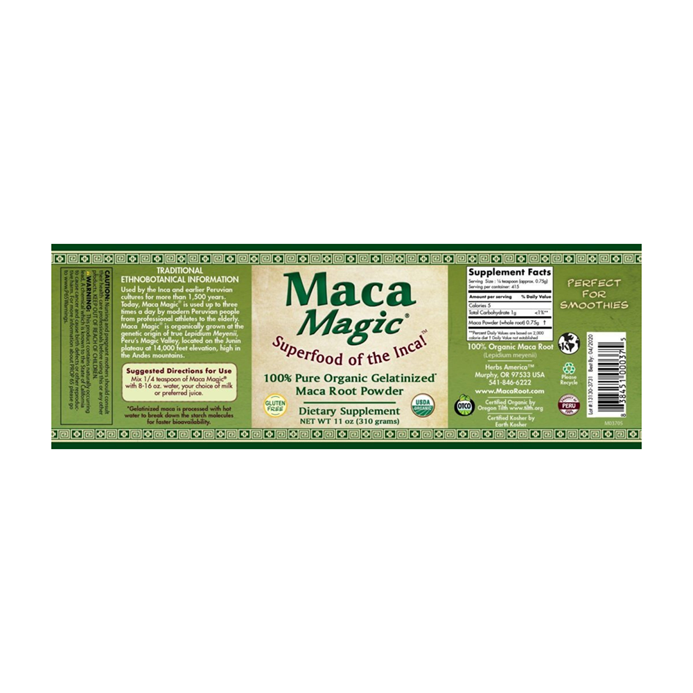 Maca Magic - Organic Gelatinized Powder (5.7 oz)