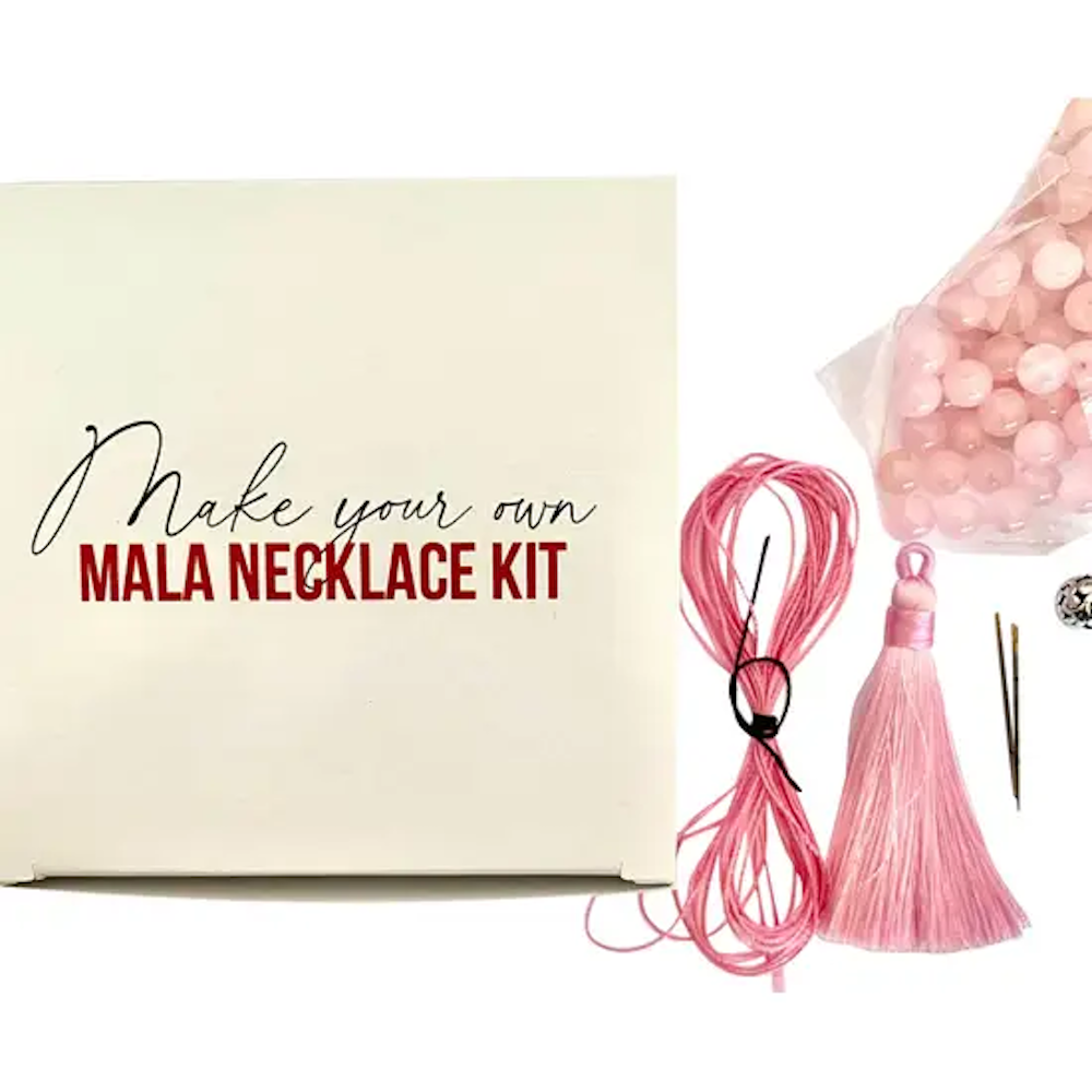 Make your Own Mala Necklace Kit: Rose Quartz