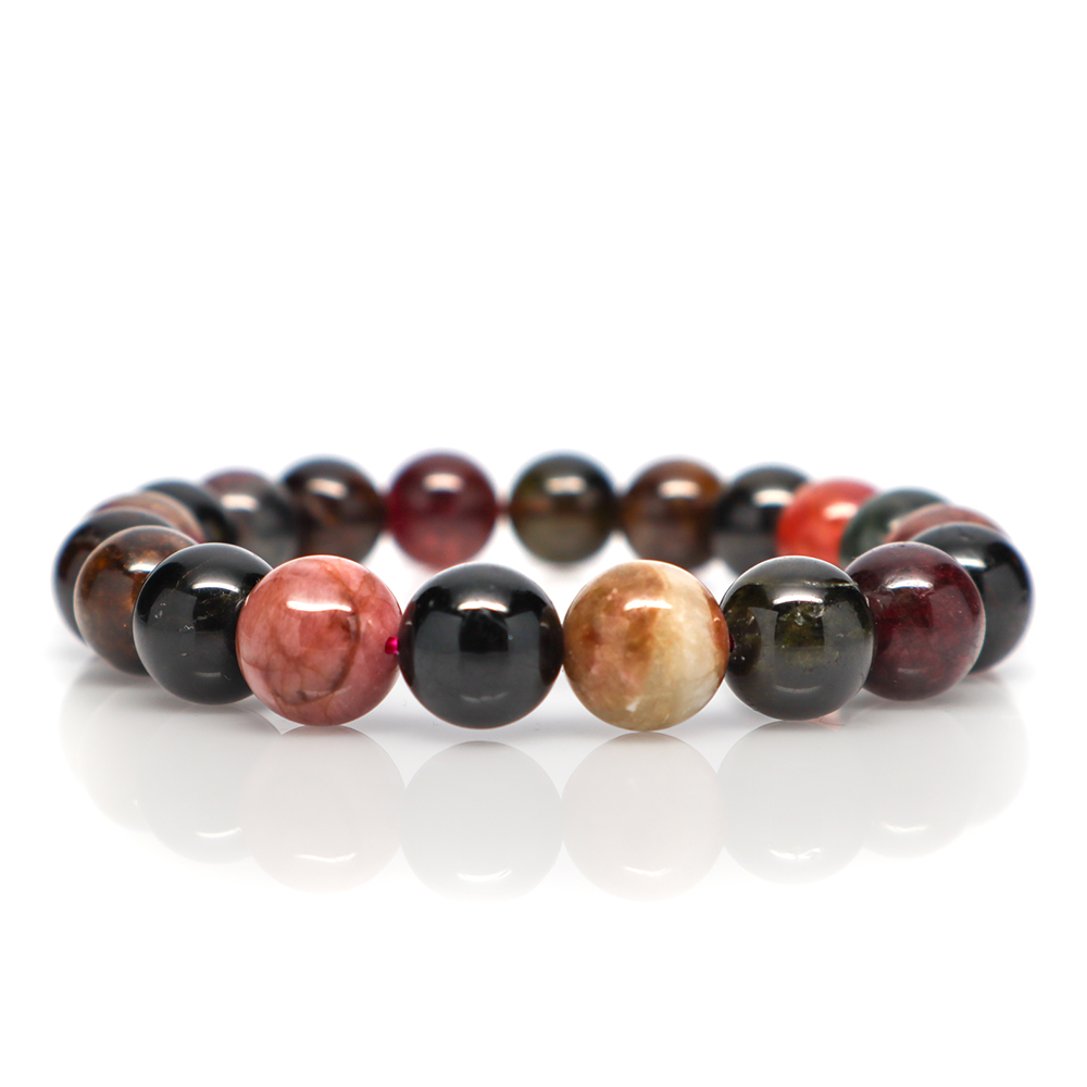 Mixed Tourmaline - Meditation Bracelet