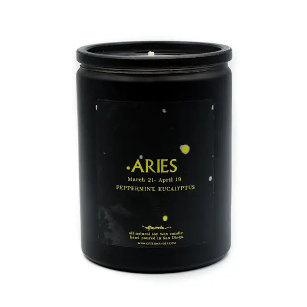 Aries: Peppermint & Eucalyptus - 12 Oz Soy Candle