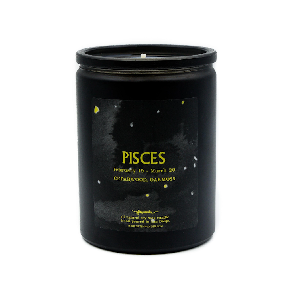 Pisces: Cedarwood & Oakmoss - 12 Oz Soy Candle