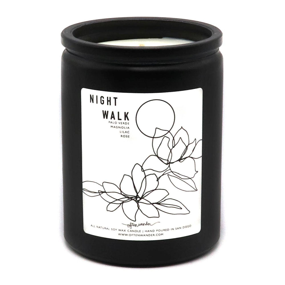 Night Walk: Magnolia, Lilac, & Palo Verde - 12 oz Soy Candle