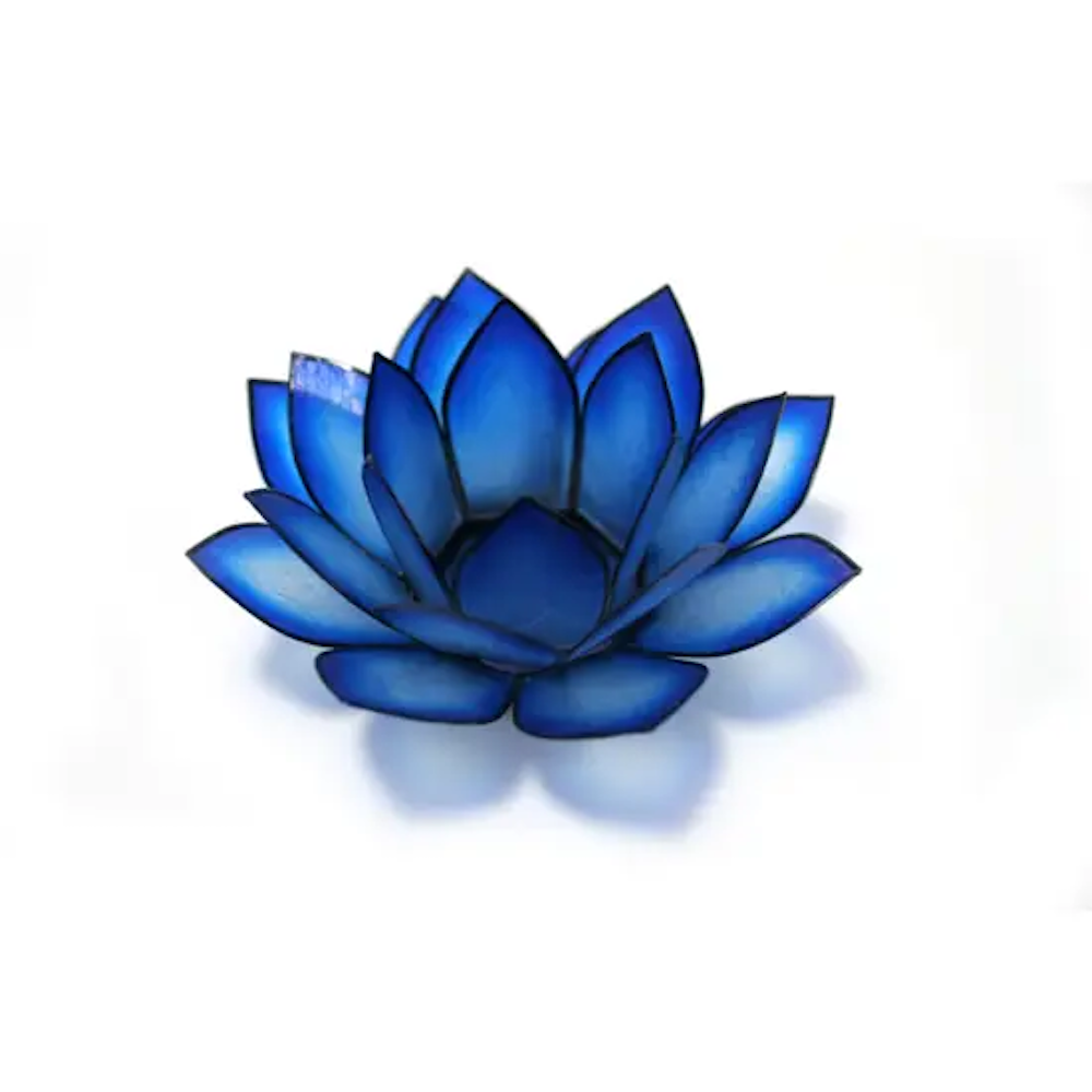 Paradise Lotus Tea Light Holder - Blue Lagoon