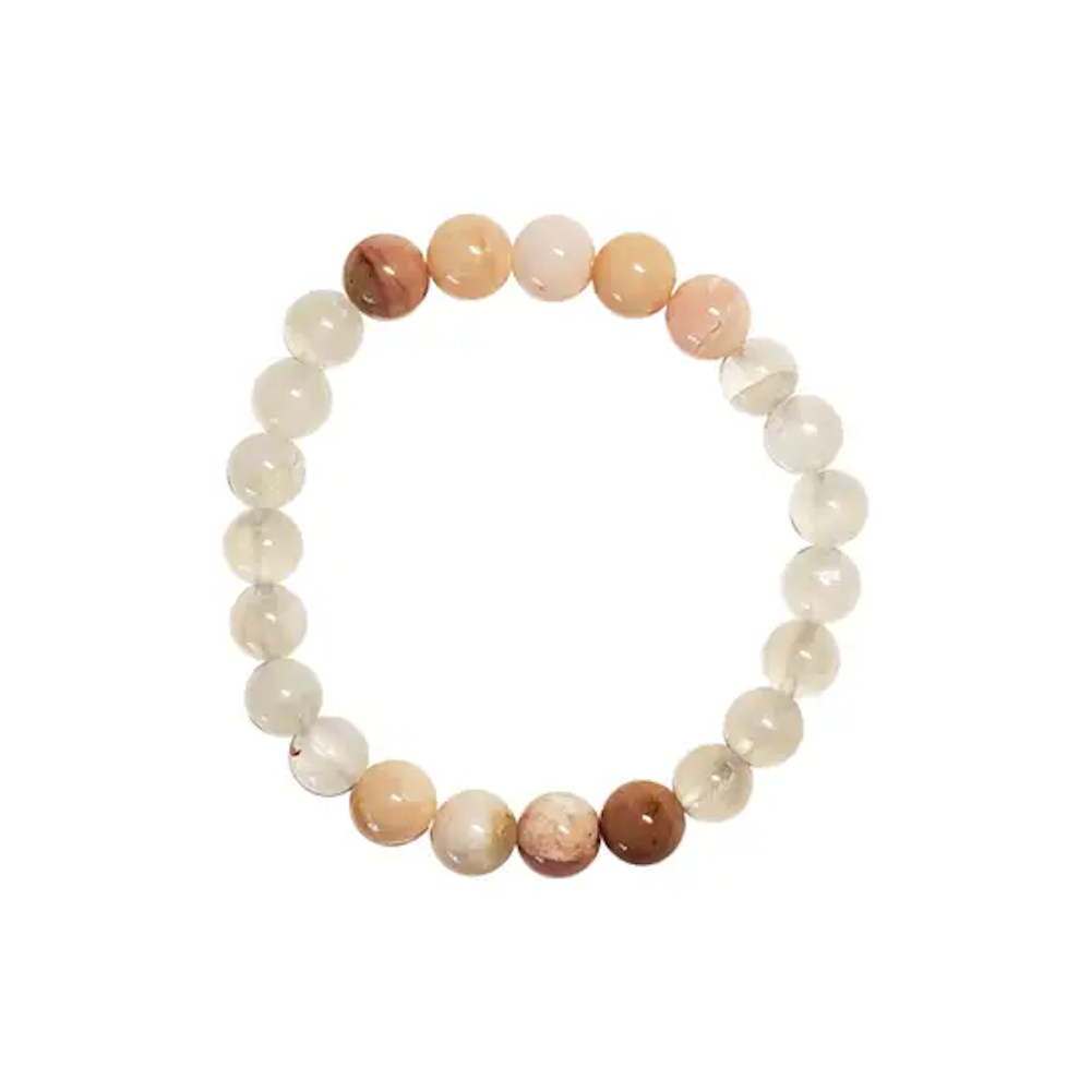 Patience Bracelet: Moonstone, Pink Opal, & Morganite