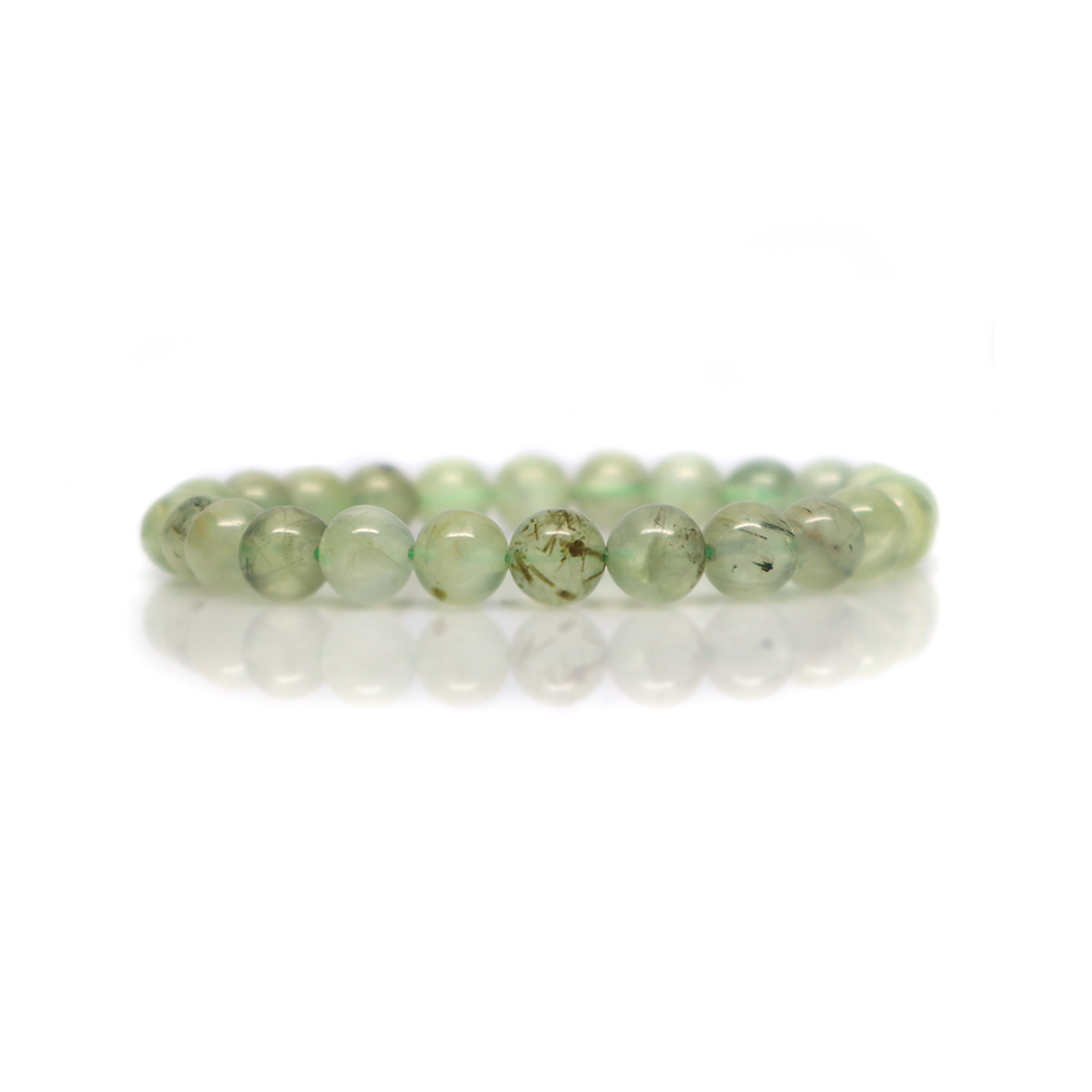 Prehnite with Epidote - Meditation Bracelet (8mm)