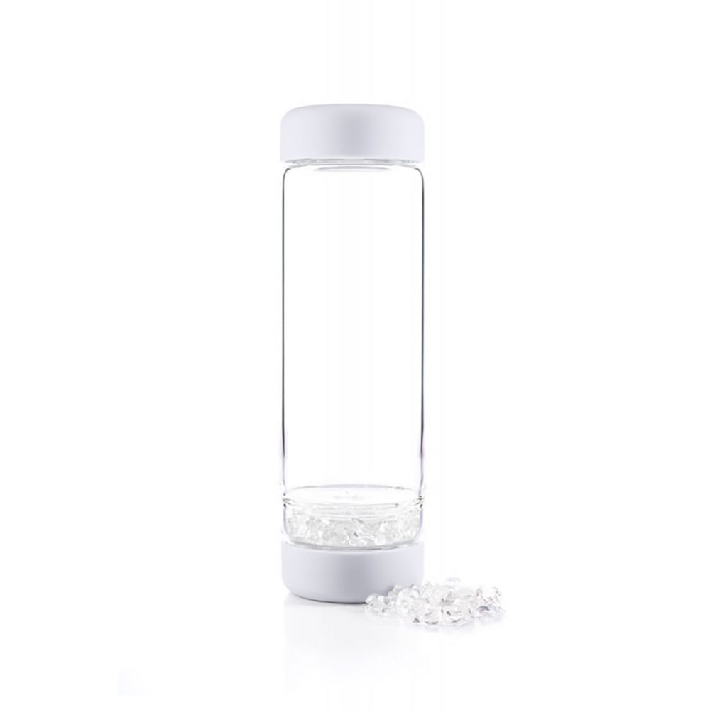 Inu! Crystal Water Bottle: Cloudy White