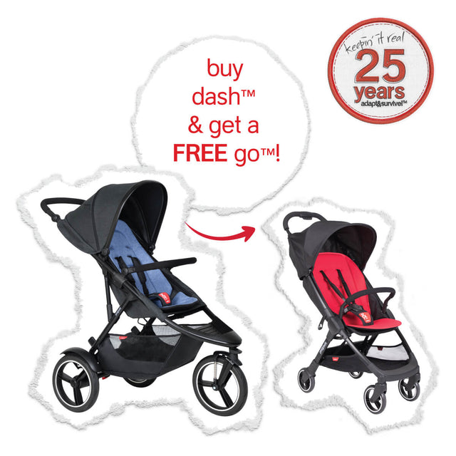 the real big birthday deal - dash™ with FREE go™ stroller