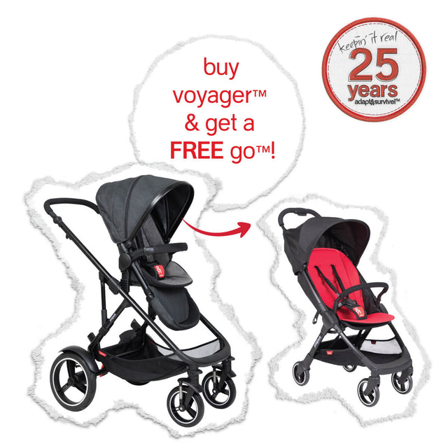 the real big birthday deal - voyager™ with FREE go™ stroller
