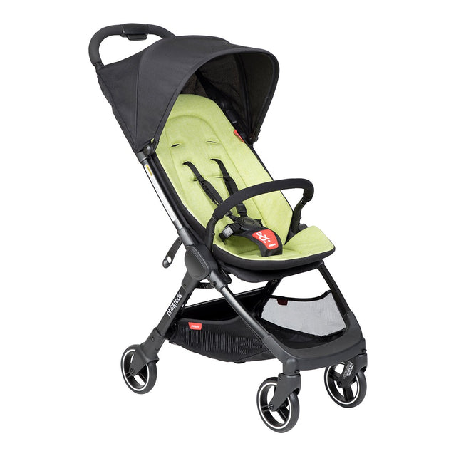 phil&teds go light and compact buggy in apple green 3 qtr view_apple