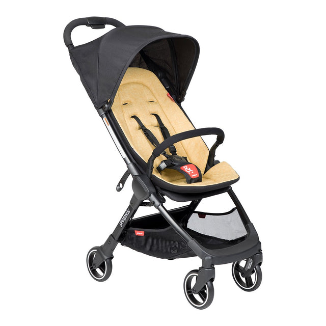 phil&teds go light and compact buggy in butterscotch 3 qtr view_butterscotch