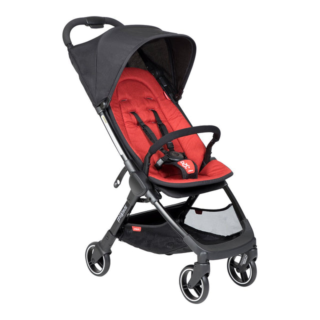phil&teds go light and compact buggy in chilli red 3 qtr view_chilli