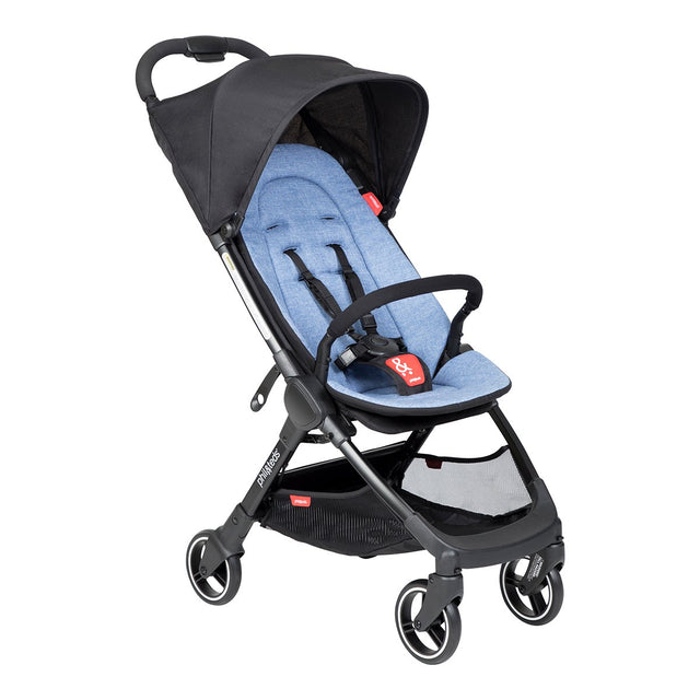 phil&teds go light and compact buggy in sky blue 3 qtr view_sky