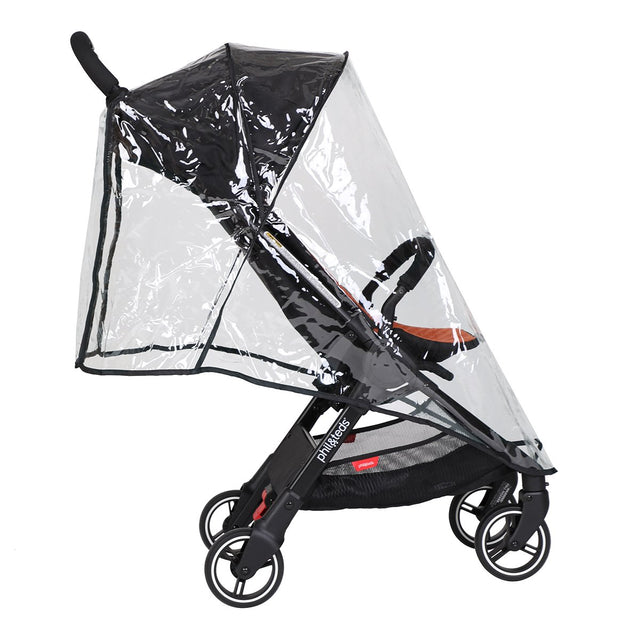 phil&teds go light weight stroller storm cover 3qtr side view_default