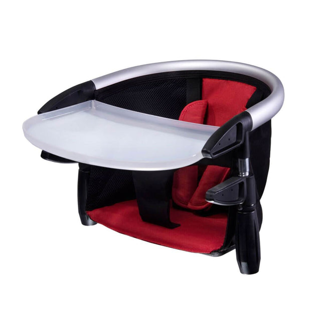 phil&teds lobster high chair in red colour 3/4 view_red