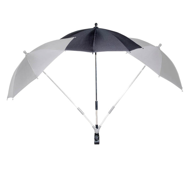 phil&teds shade stick umbrella showing all angle position options_black