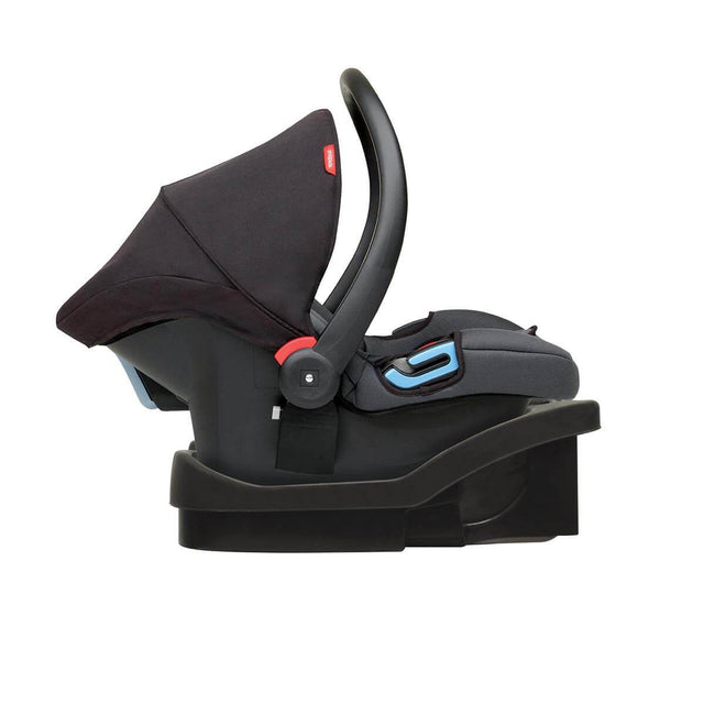 phil&teds alpha car seat with latch base side view_black