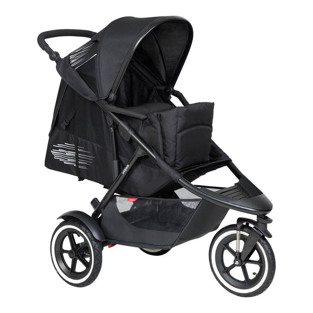 phil&teds inline sport buggy with cocoon inside in lie flat