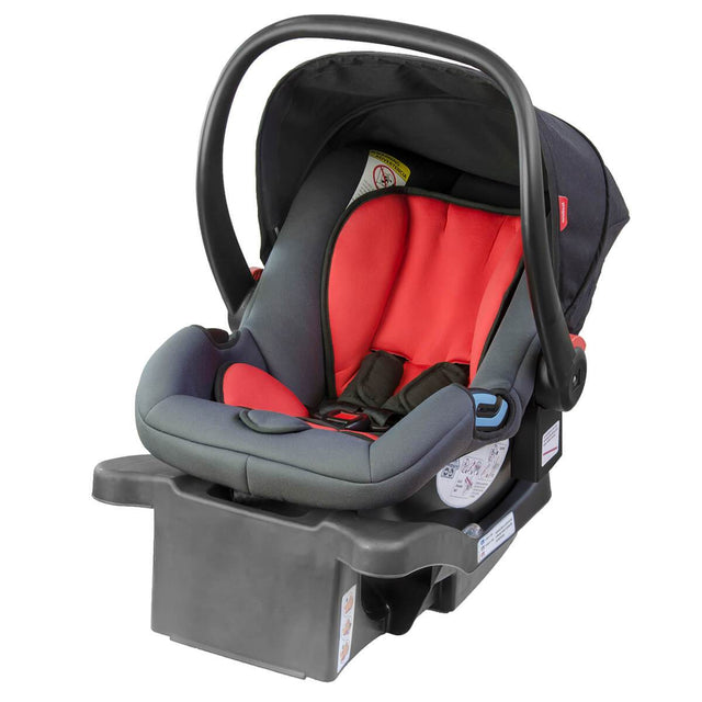 phil&teds alpha car seat with latch base 3/4 view_black