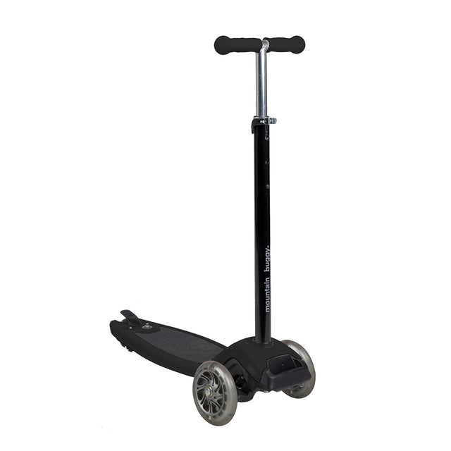 phil&teds freerider stroller board in black handle exteds to taller child 3 qtr view_black