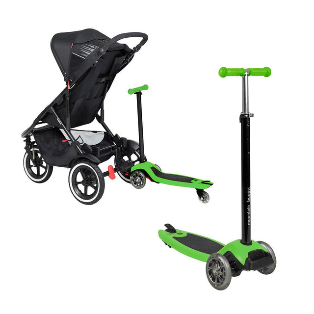 phil&teds inline range works perfectly with freerider in lime green _lime