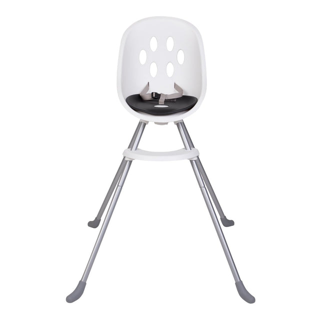 phil&teds award winning poppy high chair showing front view with removed food tray for use at counters and table_black seat liner