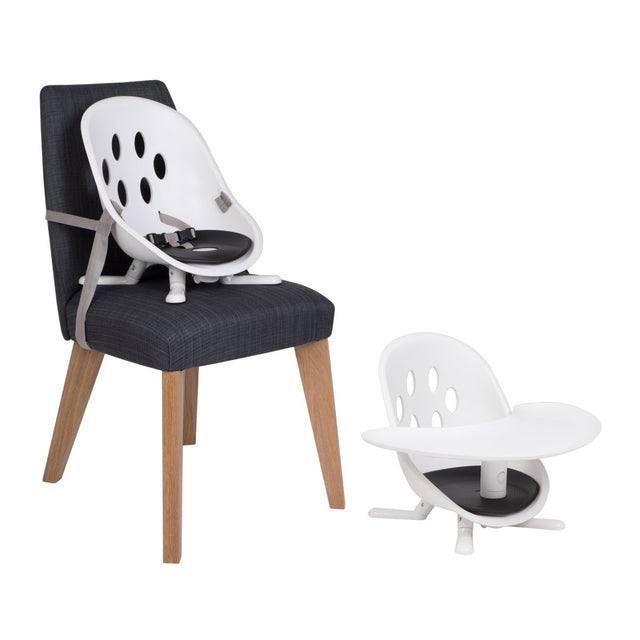 phil&teds poppy modes kit accessory shown in use on a dining chair and as a floor seat_assorted