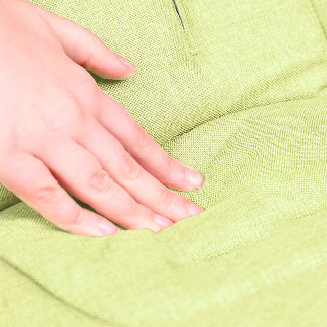 phil&teds cushy ride liner in apple green is soft to touch close up_apple