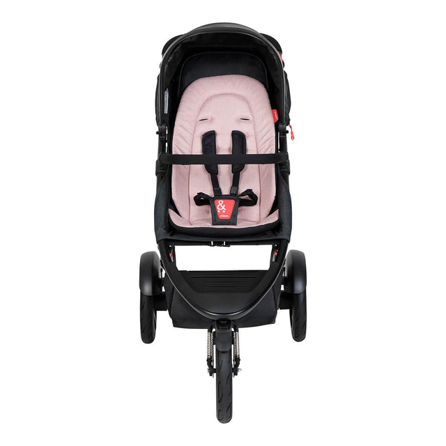 phil&teds dash buggy in blush front view_blush