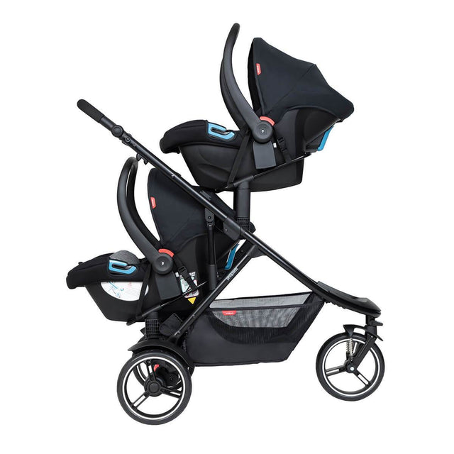phil&teds dot inline buggy with two alpha travel systems