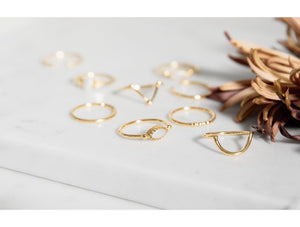 Rings - Marquis - Gold • wellDunn jewelry — Handmade in Montreal