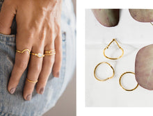 Load image into Gallery viewer, Rings - Marquis - Gold • wellDunn jewelry — Handmade in Montreal