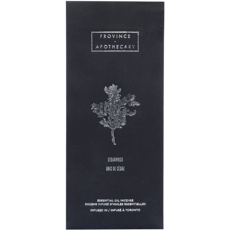 Province Apothecary | Cedar Wood Essential Oil Incense