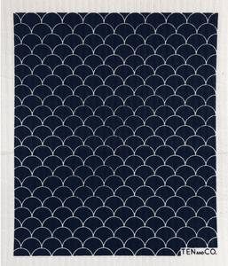 Ten & Co. | Scallop Black Sponge Cloth