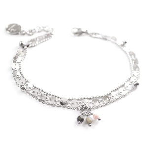Bella | Silver Layered Chain Anklet
