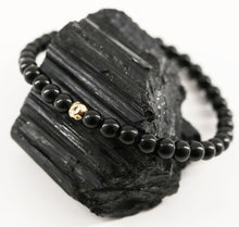 Load image into Gallery viewer, Dainty Grounded Bracelet | Black Tourmaline | 14K Filled