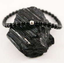 Load image into Gallery viewer, Dainty Grounded Bracelet | Black Tourmaline | Sterling Silver