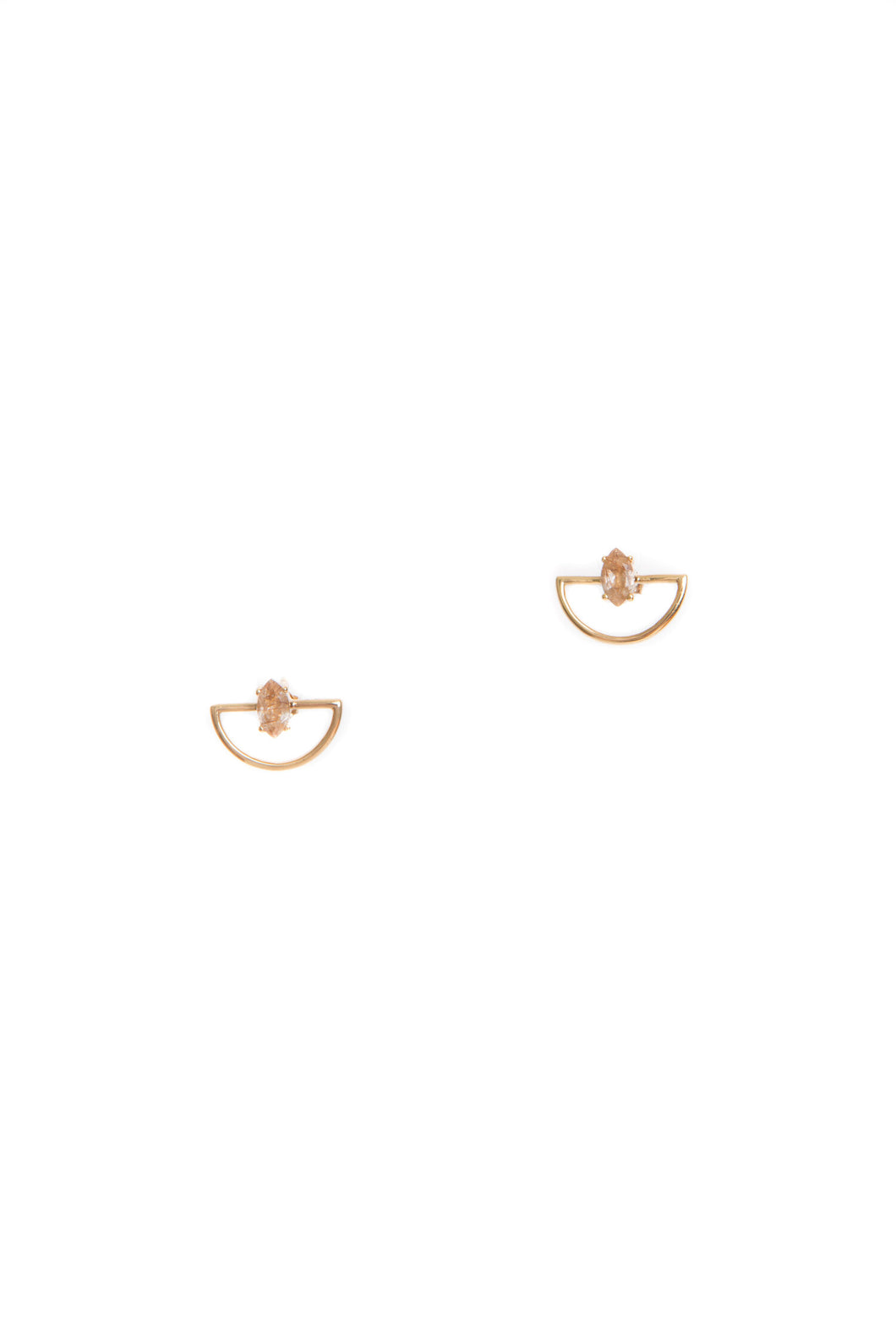 Hailey Gerrits | Estella Studs - Copper Rutilated Quartz