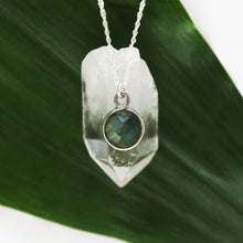 Load image into Gallery viewer, Charmed and Enchanted Labradorite | Sterling Silver Necklace