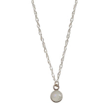 Load image into Gallery viewer, Mini Charmed by Intuition Moonstone | Sterling Silver Necklace
