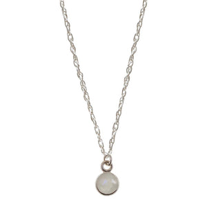 Mini Charmed by Intuition Moonstone | Sterling Silver Necklace