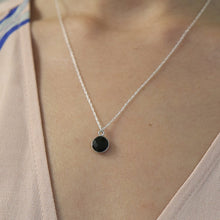 Load image into Gallery viewer, Charmed and Protected Onyx | Sterling Silver Necklace