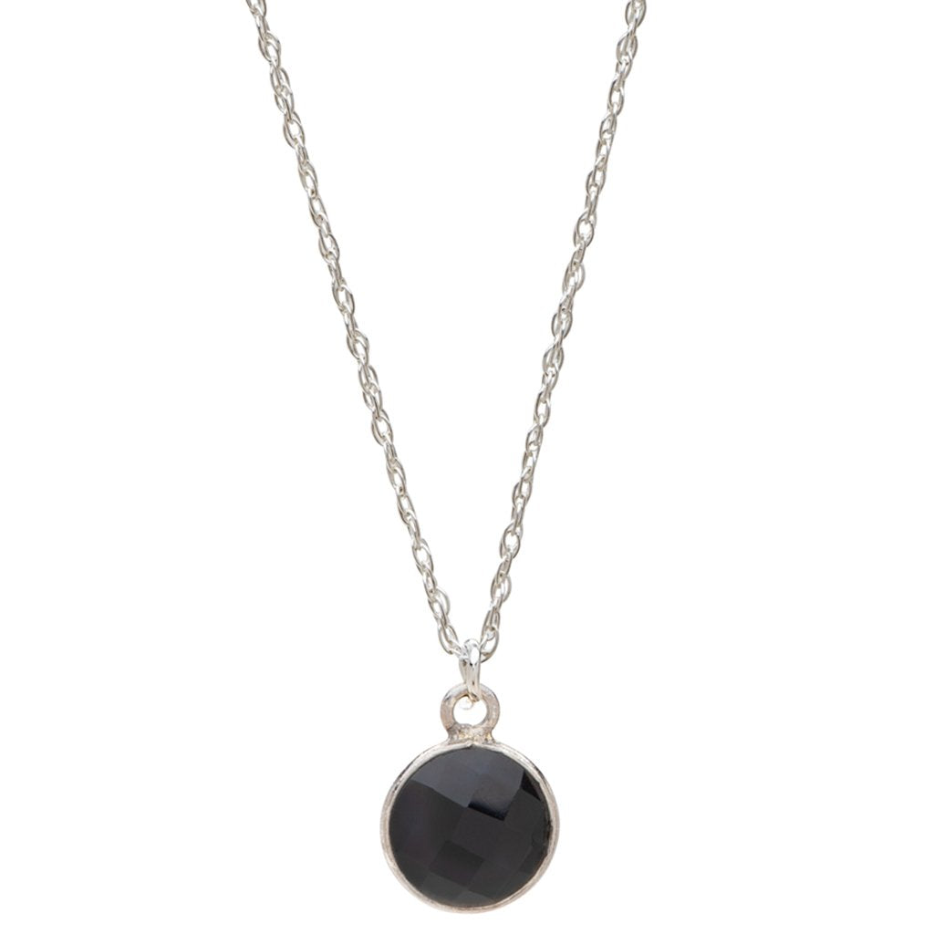 Charmed and Protected Onyx | Sterling Silver Necklace